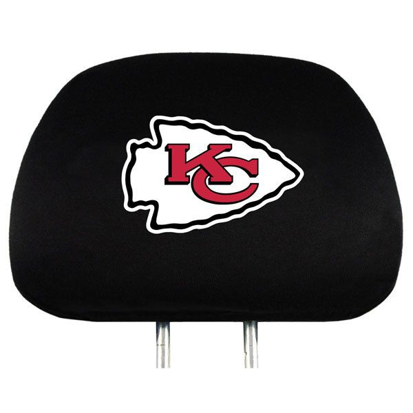 KANSAS CITY CHIEFS NFL Embr Car Auto Headrest Cover Set